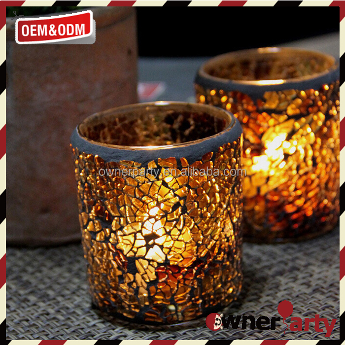 Fancy Design Glass Jar Modern Candle Holders