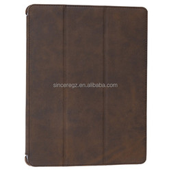 For IPAD - Stylish design leather zipper cover case 14SM-3467F