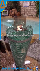 Colored glass rocks in aquariums for gabion fountain decoration