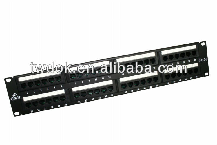 TEDE cat3 patch panel cat6 1u 100 pairs rack mount 110 wiring utp cat 5e 16 ports cable organizer rack rj45 4 ports modular jack