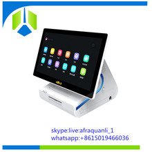 Good quality windows POS system/POS terminal/POS machine with 80mm printer and NFC reader---Gc065