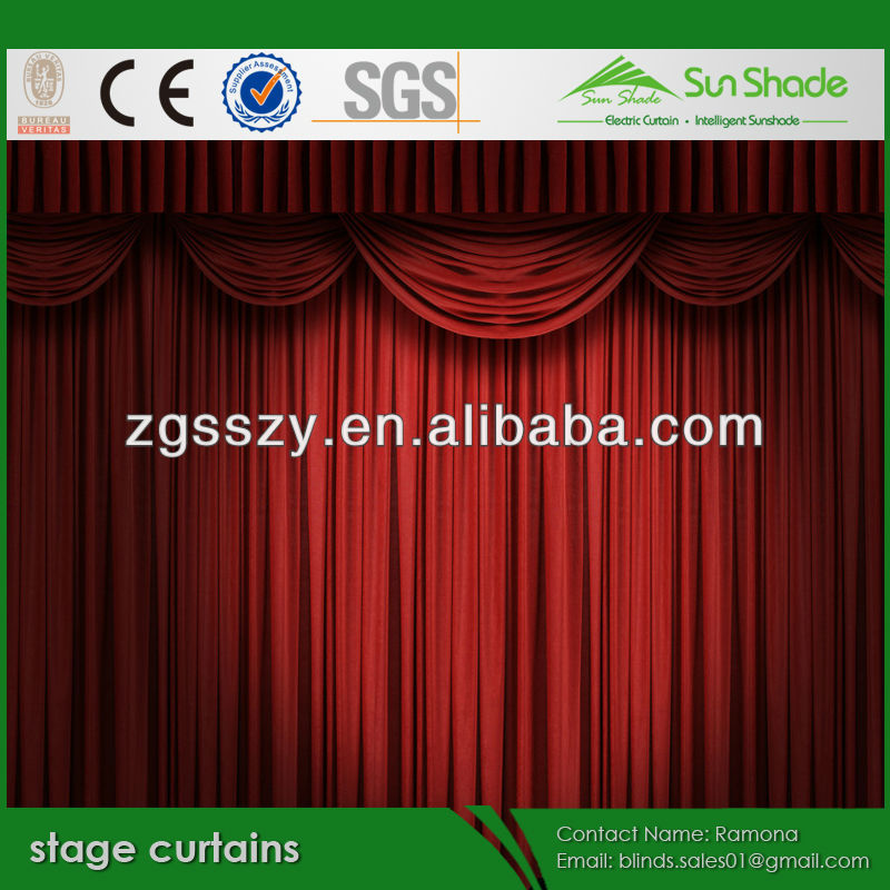 Motorized /electric Stage curtain for theater