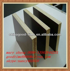 common quality poplar core melamine glue black and brown film faced plywood export to the Middle East market
