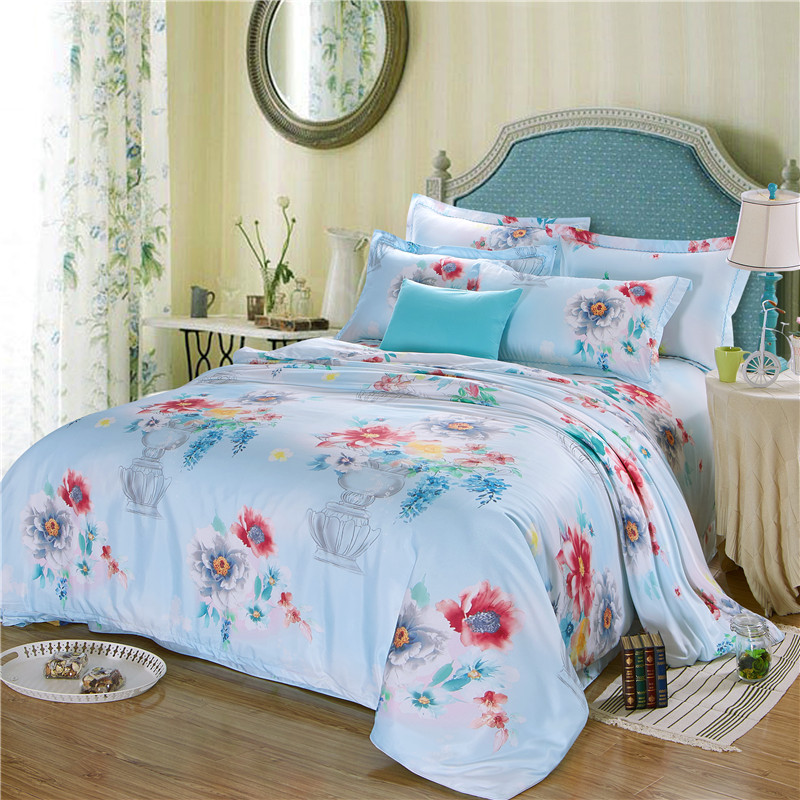 custom printing duvet cover set oriental queen bed china polyester cover
