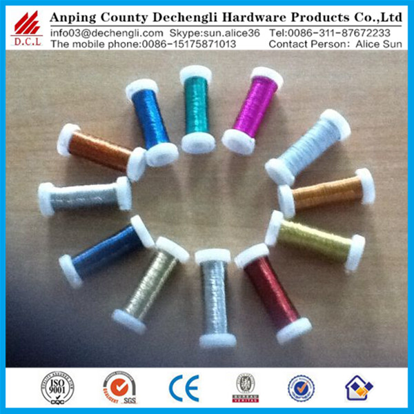 Chinese suppliers DIY craft Jewelry making wedding bright colored aluminum wire
