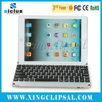 Ultra thin wireless aluminum bluetooth keyboard case for ipad air