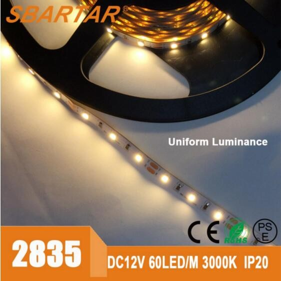 2016 Factory Supplier Single Color Warm White 3000K DC24V 2835 Low Voltage IP65 Waterproof Led Strip