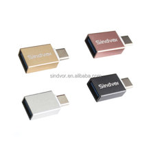 Metal Micro To Type C Converter USB 3.1 Male To USB 3.0 Female OTG Adapter