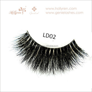 Clear band 3D multi-layered fluffy real mink false eyelash