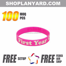 Charity Give Away Logo Printed silicon wristband Guangzhou