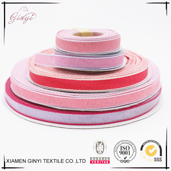 China factory fashion woven polyester satin elastic ribbon