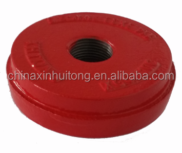 FM UL Approved ductile iron Pipe end cap, Water Supply and Sewage usage