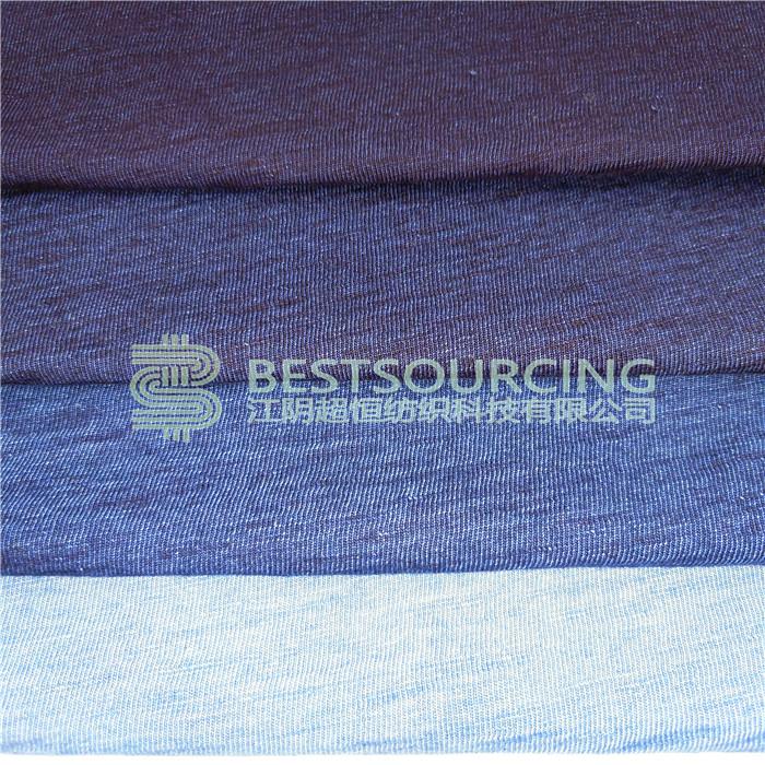 knit fabric textile indigo yarn dye
