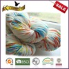American market hot sale 75 wool 25nylon mixed color hand knitting yarn