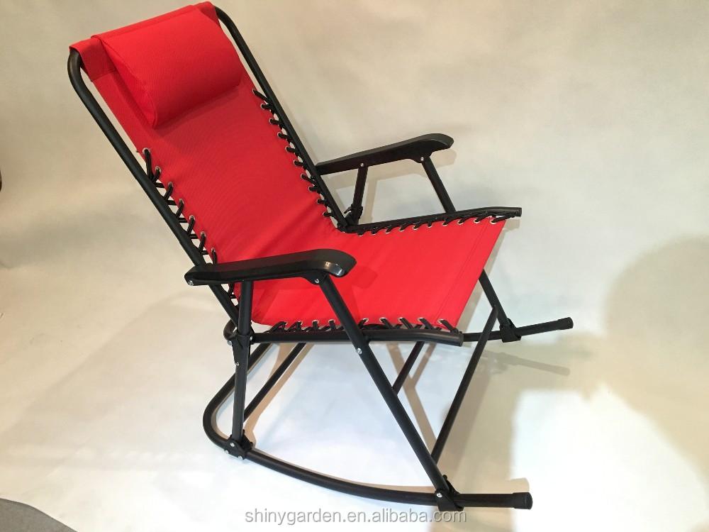 Rocking beach chair rocking chair iron metal frame rocking for Chaise bercante walmart