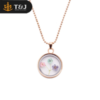 2016 China Jewelry Manufacturer Glass Bottle Fashion Locket Pendant Necklace With Dried Flower