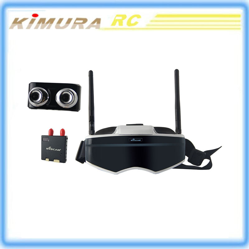 Boscam GS909 5.8G 32CH 3D Video FPV Goggles with Double Transmitting Lens