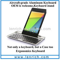 LBK807 Exact Bluetooth QWERTY Keyboard Stand Case for Google Nexus 7 2nd Gen 2013 Android Tablet Black