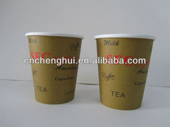 Paper Coffee Cup 300 gsm single PE 9OZ