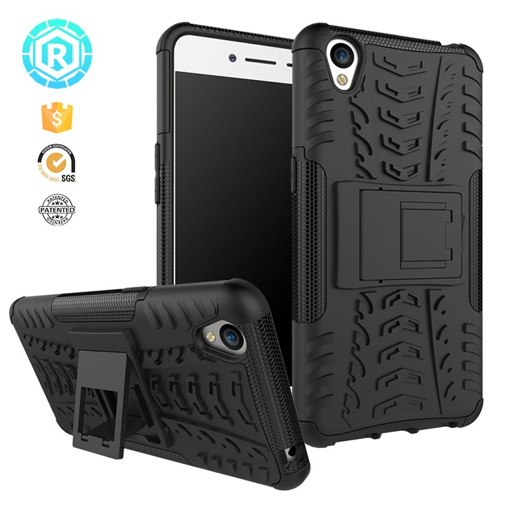 newest top tough pc dustproof case for oppo a37 back cover case for oppo a37 with foldable kickstand