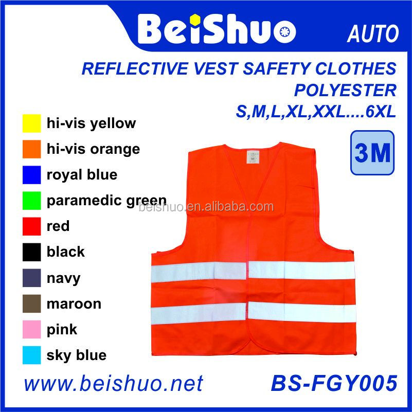 High Visibility Neon Orange Safety Vest Clothes with Silver Reflective Strips - Meets ANSI/ISEA Standard BS-FGY005