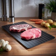 Home Kitchen Fast Defrost Tray Magic Aluminum Defrosting Tray For Meat Products
