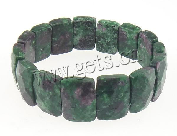 Ruby In Zoisite Rectangle Ruby Cuff Bracelet