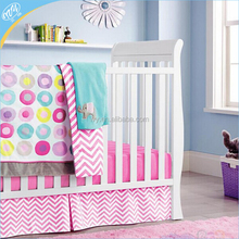Colorful round dot print american cotton kids bedding