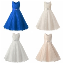 C0182#Summer Princess kid Party Dresses Sleeveless Girl Dress For6-10years