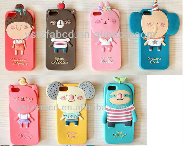 Cute animal silicone mobile phone cover/case/sheath