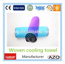 2015 new style hot weather work protection cooling towel polyester90% nylon10%