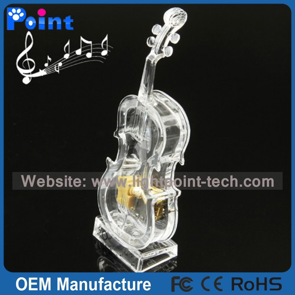 Top design Violin crystal music box