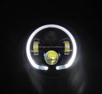 Cheap Price Hot Sale 7 inch round LED Headlight with angel eye head light for Jeep Wrangler Jk