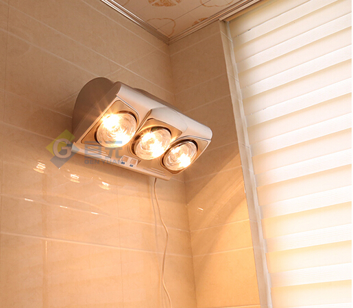 Bathroom heat lamp fan