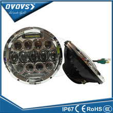 "OVOVS BLACK/CHROME replacement kit75w round 7"" led headlight for jeep"