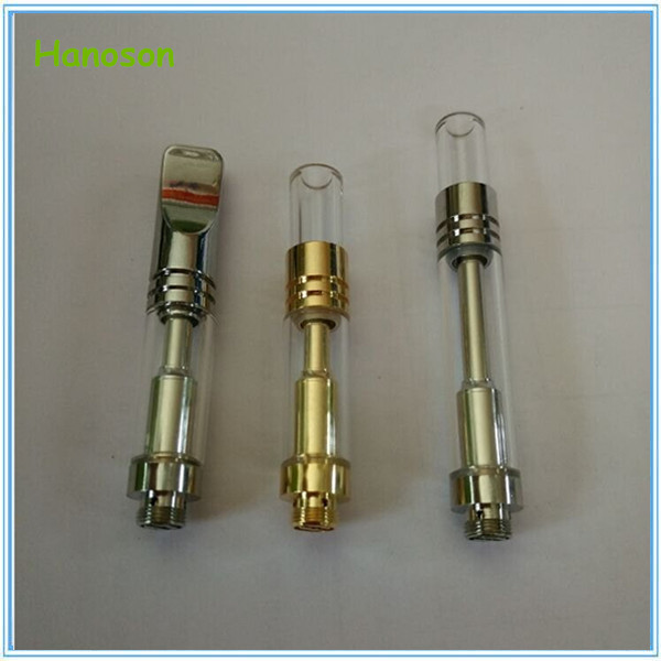 Disposable glass tank cbd vape pen 510 thread oil ceramic coil no wick co2 oil cartridge