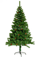 4ft pvc christmas tree with red pine cone wholesale indoor decorative pine trees