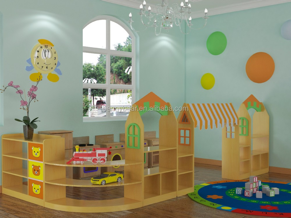 New Nursery School Furniture Wooden Toy Storage Cabinet,Wooden Role Play Toys,Painting Easel
