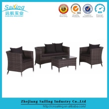 New Design Indoor Wicker Sofa Set Hotel Lobby Furniture