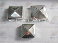 Stainless Steel Pyramid Decorative Fence Post Caps 91x91 mm