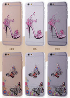 Sexy Beauty 3D Diamond Painting Rhinestone Soft Get TPU Back Cover Case For iPhone 5 5s 6 6plus