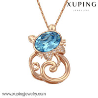 32582- xuping gold jewellery, dubai gold love symbol animal shaped pendant made with crystals from Swarovski