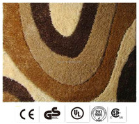 soft polyester quality customized flower design wool carpets