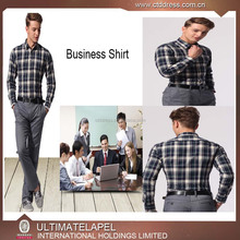 Summer Cheap 100% Cotton Checks Custom Business dress Shirt for men