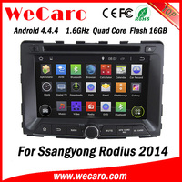 Wecaro WC-SY7070 Android 4.4.4 car radio gps for ssangyong RODIUS 2014 with radio 3G wifi playstore