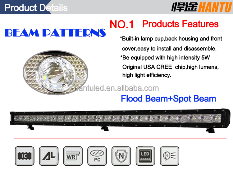 120W aluminum bracket light bar offroad grille light bar harley led headlight