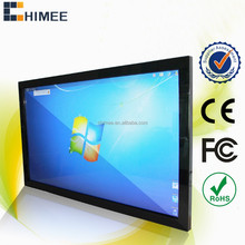 HQ55EW-C1-T Wall mounting Ultra Slim touch display all in one computers with 8GB RAM and 256G SSD for airport train station