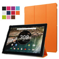 Protective PU leather tablet cover case with stand function for google pixel c