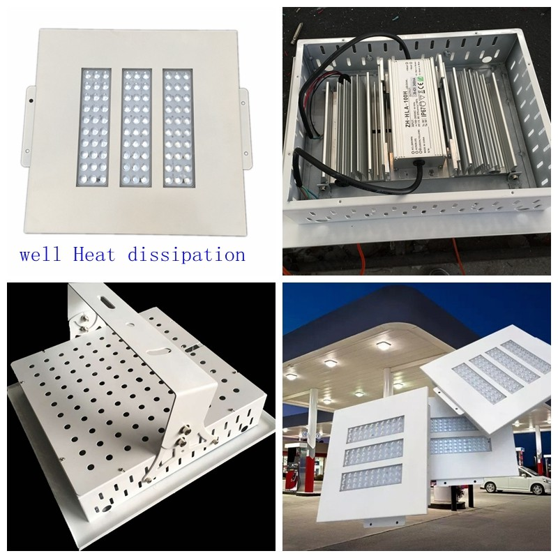 Shenzhen 2 modules outdoor Waterproof 100w Led Gas Station Canopy Light