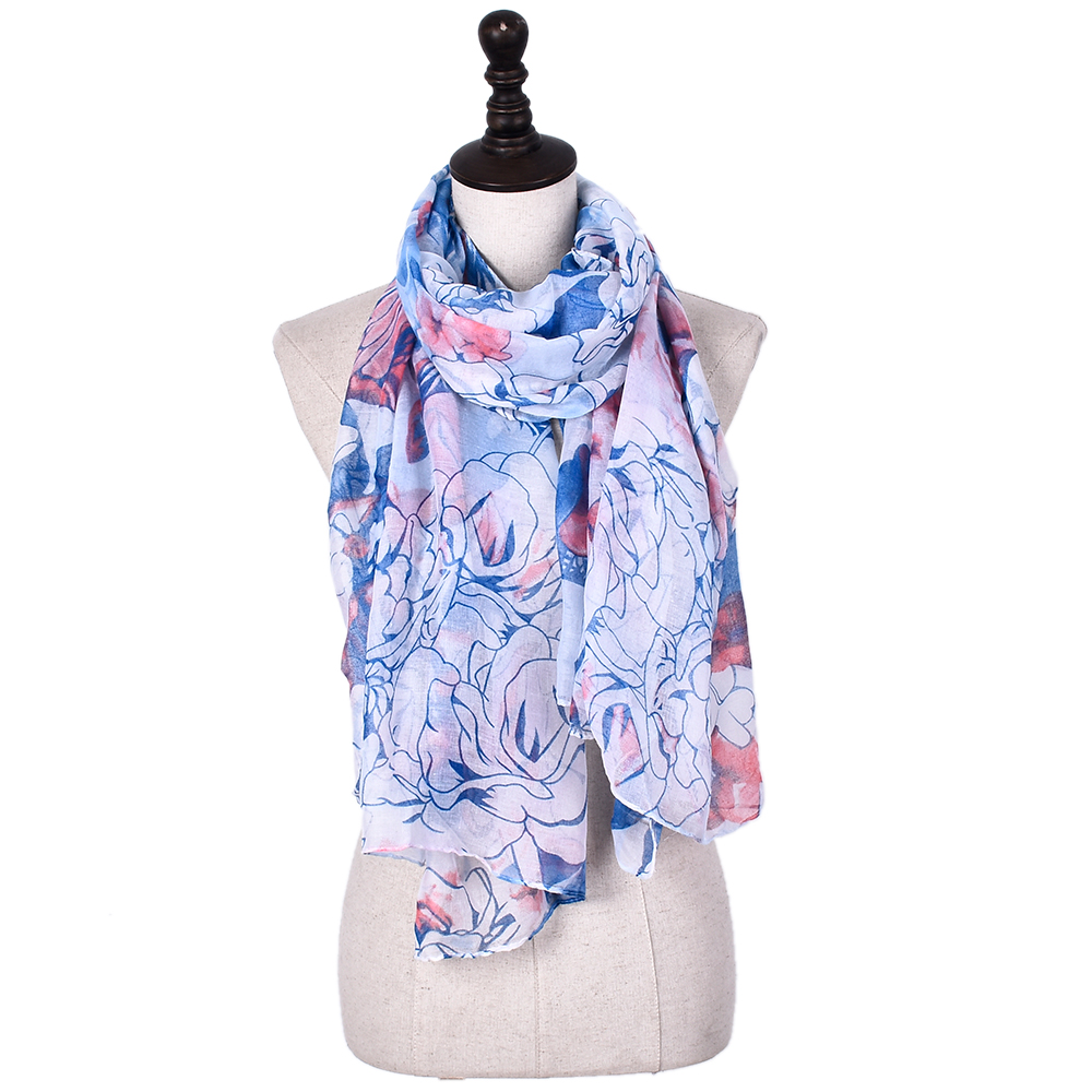 Indian Fashion Screen Print Wide Shawl ladies scarfs and stoles